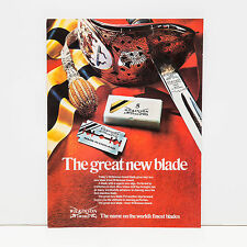 Original 1970s Wilkinson Sword Finest Blades Advert (Vintage Poster Art Ad)
