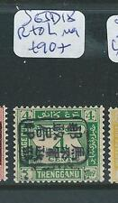 MALAYA JAPANESE OCCUPATION TRENGGANU (P2405B) POST DUE 4C R TO L SIGN ROWELL SGJ