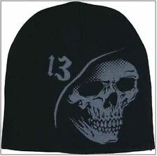 Authentic Lucky 13 Reaper Printed Beanie Biker Motorcycle Tattoo Punk Hat S