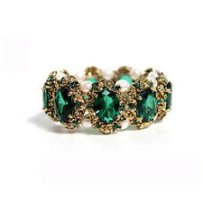 Vintage Style Emerald Green Stones Elastic Personality Ancient Bracelet BB56