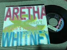 "ARETHA FRANKLIN & WHITNEY HOUSTON SPANISH 7"" SINGLE SPAIN IT ISN'T ARISTA 89"