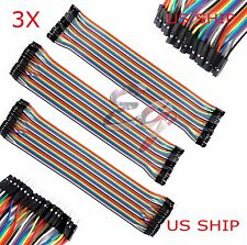 T1 3X 40pcs 30cm Male To Male Female Dupont Wire Jumper Cable Arduino Breadboard