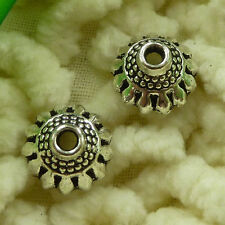 free ship 100 pieces tibetan silver nice bead cap 10x5mm #2737