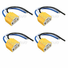 4 stk. H4 9003 Lampensockel Stecker Anschluss Fassung Sockel mit Kabel Auto Plug