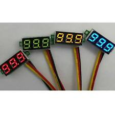 2Pcs Mini DC 0-100V LED 3-Digital Display Voltage Voltmeter Panel Motor Colorful