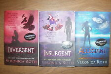 * 3 FANTASTIC DIVERGENT TRILOGY BOOKS by VERONICA ROTH * UK POST £3.25* PB *