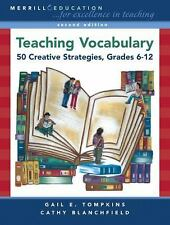 Teaching Vocabulary: 50 Creative Strategies, Grades 6-12 (2nd Edition)