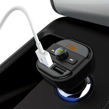 Bluetooth Car Kit MP3 FM Transmitter Modulator SD 2 Dual USB Charger for iPhone