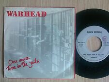 "WARHEAD - ONE MORE TIME IN THE JAIL - 45 GIRI 7"" ITALY"