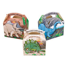 10 Childrens Kids Dinosaur Carry Food Loot Picnic Birthday Party Bag Boxes