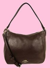 COACH MADISON TOP HANDLE Mink Leather Convertible Shoulder Bag Msrp $198.00