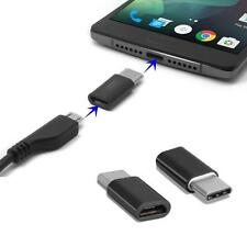 Black USB 3.1 Type-C Male to Micro USB Female Converter USB-C Adapter Type