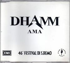 Dhamm Ama Cd Single Promo Radio 46° Festival di Sanremo  1996
