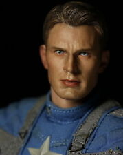 "1:6th Avengers Captain America Chris Evan No Neck Head F 12"" Male Body Model"