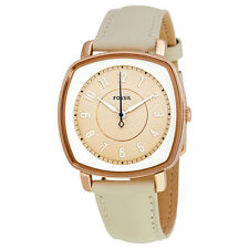 Fossil Idealist Beige Dial Ladies Leather Watch ES3997