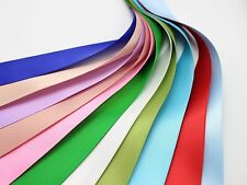 """10 Meter 25mm(1"""") Double Sided Satin Ribbon Gift Bow Wedding Craft 10 Color"""