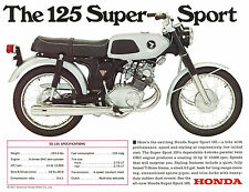 HONDA Brochure SS125 CB125 Twin 1960s REPRO Sales Catalog