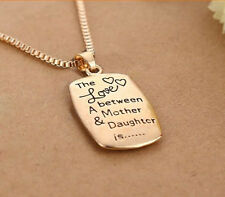 "Wholesale Mom Daughter Necklace ""The Love between A Mother & Daughter"" Pendant"