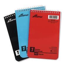 Ampad Wirebound Pocket Memo Book - 40 Sheets - 15 Lb Basis Weight - Narrow Ruled