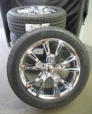 "20"" JEEP GRAND CHEROKEE SRT8 STYLE CHROME SET OF FOUR WHEELS AND TIRES 9113"