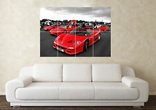 Large Ferrari F5O collection SuperCar Sports Car Wall Poster Art Picture Print