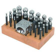 24 PC Doming Block & Punch Set for shaping & forming jewelry & precision parts