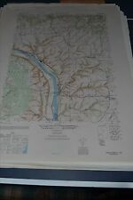 1940's Army topo map Frenchtown New Jersey 5965 II SE