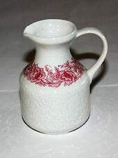 Hutschenreuther Petra Relief Milchtopf 70-er Jahre weiß m. rosa Blumenranke