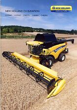 New Holland CX Elevation 04 / 2014 catalogue brochure moissonneuse  combine