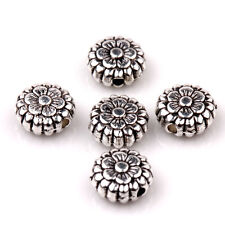 Lots 30Pcs Tibetan Silver Charms Spacer Beads Jewelry Findings Making DIY 8x3mm
