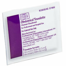 """PDI HYGEA Obstetrical Ladies Cleanser Deodorant Wipes Towelettes 7.75""""x5"""" 100/BX"""