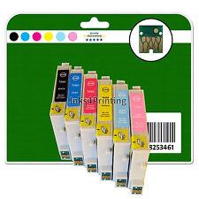 Alle 6 Tintenpatronen für Epson R200 R220 R300 R300M R320 R340 Nicht-OEM E481-6