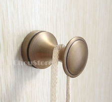 Antique Brass Single Round Hangers Bathroom Robe Hook Hanger Wall Mount Install