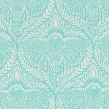 DEITY Elephant Retro Fabric FQ Tula Pink EDEN Indian SHERBET BLUE Damask Style