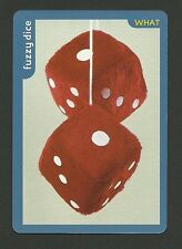 Red and White Fuzzy Dice Collector Photo Card
