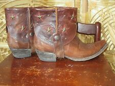 Old Gringo Leather Pointed Toe Star Studded Rusty Brown Cow Girl Boot. Size 8.5