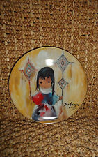 """De Grazia Holiday Children""""HEAVENLY BLESSINGS""""1983 Porcelain Collector Plate New"""