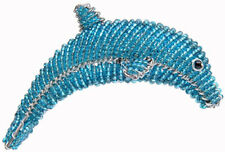 Beadworx Grass Roots Creations Handmade Dolphin Christmas Ornament New 2013