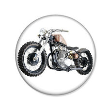 Badge MOTORBIKE shopper moto Kustom biker retro rock vintage hipster pin Ø25mm