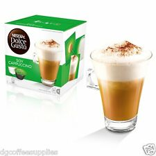 New Nescafe Dolce Gusto Soy Cappuccino Coffee Pods 16 in box 8 Servings UK stock