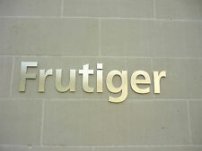 FRUTIGER Brushed Stainless Steel 15cm House / Door Letters - ANY COMBINATION