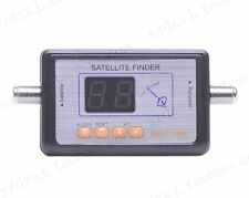 New DVB-S FTA Satellite Signal Finder Directv Meter LCD Buzzle para TV Digital