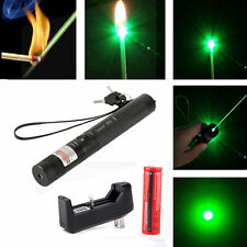 10 Miles 532nm 5mw 303 Green Laser Pointer Lazer Pen Beam Light +18650+Charger