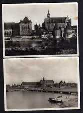 107034 2 AK Marienburg Westpr. Schloss Deutscher Ritterorden 1934 1933 Fotokarte