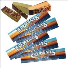 5 X ELEMENTS KING SIZE SLIM ROLLING RIZLA PAPERS AND 3 X RAW TIPS ROACH ROACHES