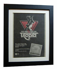 UTOPIA+TODD RUNDGREN+RA+POSTER+AD+RARE ORIGINAL 1977+FRAMED+EXPRESS GLOBAL SHIP