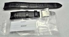 Seiko 4KK6JZ Z-15 Black Alligator Grain Watch Strap 20mm Lug SS Deployment Clasp