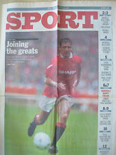 VINTAGE NEWSPAPER SUNDAY TELEGRAPH MAY 15th 1994 MANCHESTER UNITED WIN DOUBLE