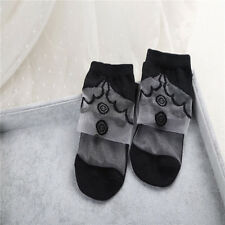 Women's Lolita Style Summer Invisible Transparent Ankle Crystal Glass Silk Socks