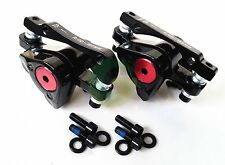 Bike MTB Mechanical Front & Rear Disc Brake Calipers + Pads Avid BB5 + Bolts Set
